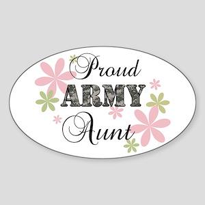 Army Aunt [fl camo] Sticker (Oval)